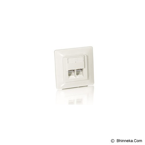 EQUIP Outlet Cat 5E [125723 - Pearl White] - Data Outlet